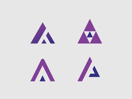 logos of geometric shapes in the form of the letter A