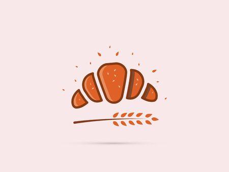 pretzel icon with a spike on a uniform background