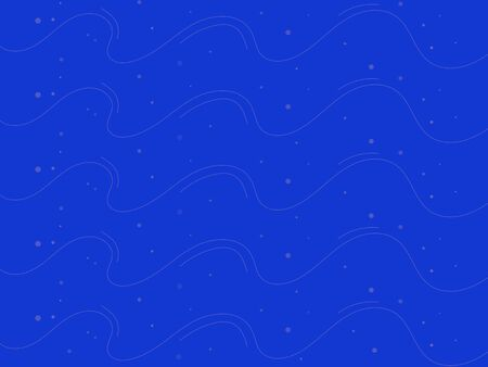 blue background with wavy lines and circles