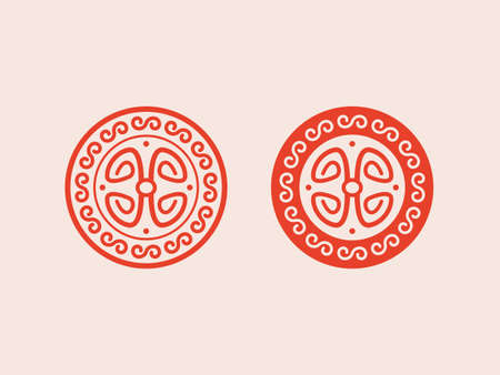 oriental ornament on a beige background