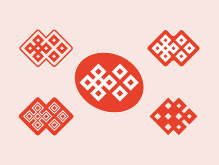 geometric ornament in the form of dice illustration  イラスト・ベクター素材