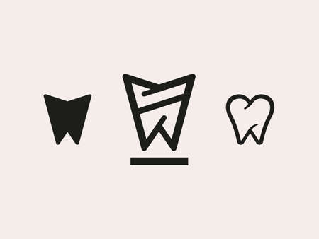 Set of symbol in the form of chewing teeth