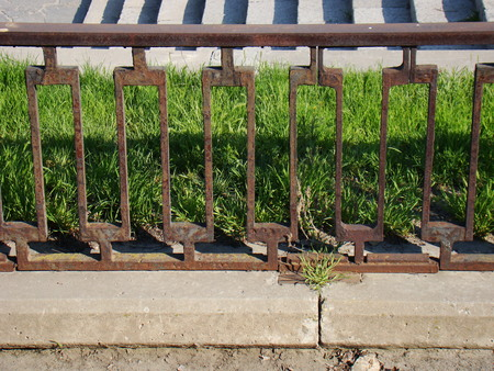 rusty fence: Rusty fence