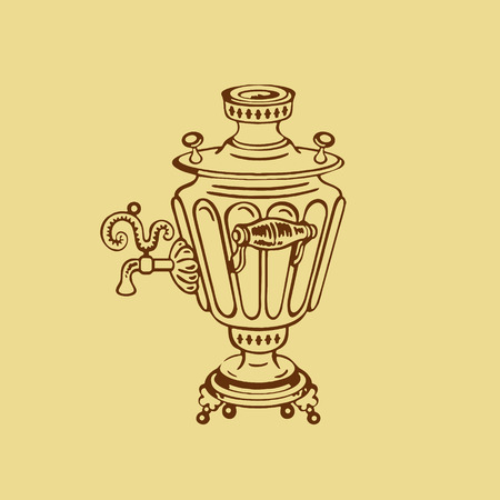 Samovar. Vector illustration on a light background