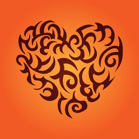 intertwined: Heart vector color illustration on Valentines Day Illustration
