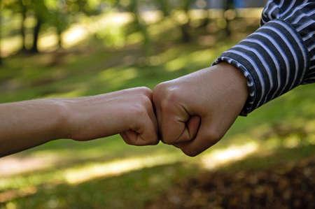 Photo of handsake showing friendship