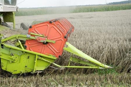 combine harvester: Photo of combine harvesting crops