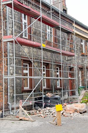 Photo of building with scaffolding during renovation Stock Photo - 15809538