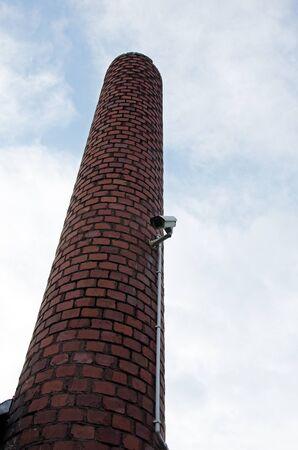 Photo of CCTV camera on chimney