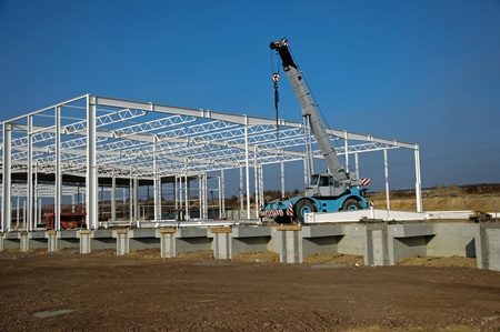 Photo of construction site of modern warehouse Stock Photo - 18117350