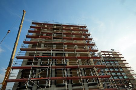 Photo of new building being constructed Stock Photo - 21470455