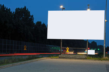 Photo of ad billboard in a city