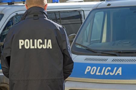 Photo of polish police sign