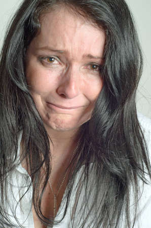 image of a weeping woman desperate photo