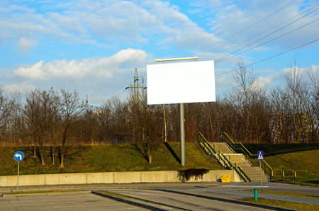 Photo of ad billboard in a city photo