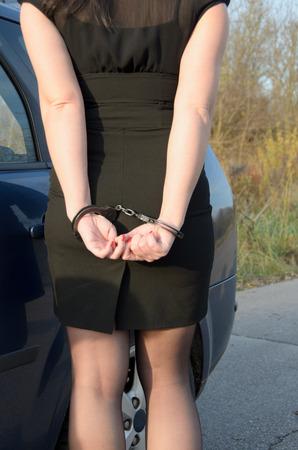 Photo of women handcuffed criminal police Stock Photo
