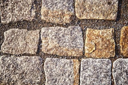 Photo of sidewalk made of stones Stock Photo