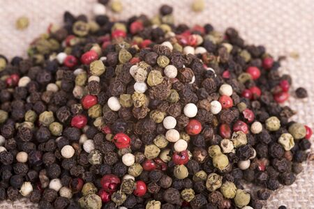 a picture of colorful peppercorns Stock Photo