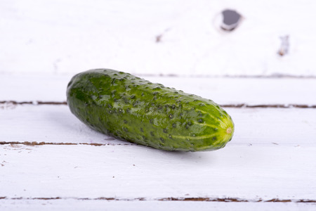 a photo of green cucumber Stock Photo
