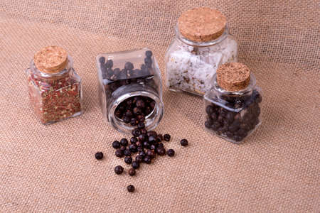 glass containers: photo showing juniper in glass containers