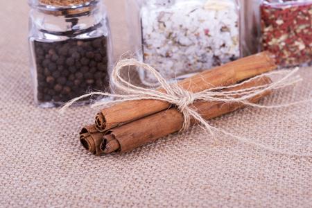 a photo of fresh cinnamon Stock Photo