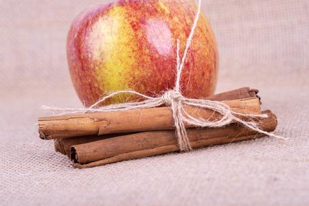 a photo of fresh cinnamon apple