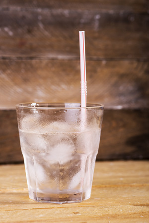 fizz: cold mineral water in a glass