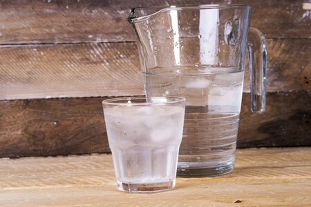 cold mineral water in a glass