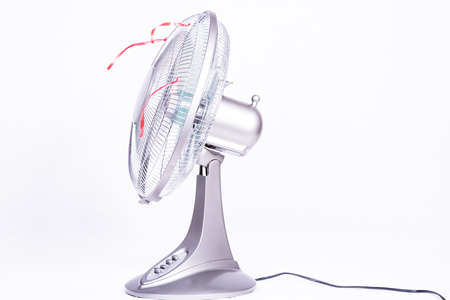 coldness: photo showing the fan on a white background Stock Photo