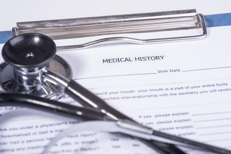 historia clinica: cuestionario de historia médica