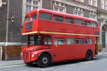 tourists stop: London bus Stock Photo