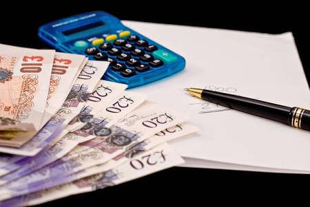 Busines calculation Stock Photo