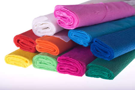 many roll blotting paper coloured Stock Photo