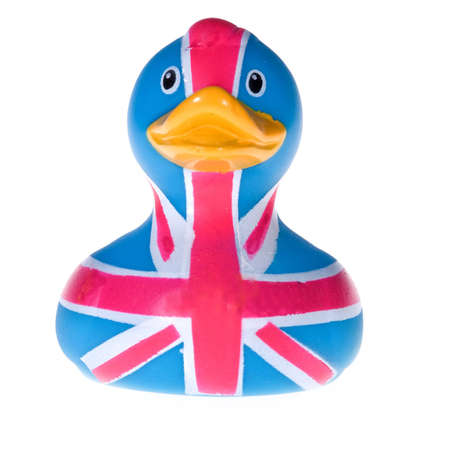 Rubber duck in white background Stock Photo - 4162255