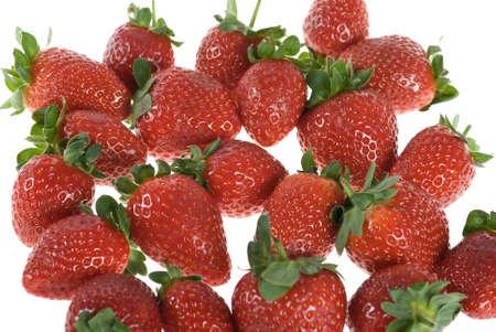 Fresh strawberry in white background Stock Photo