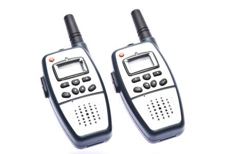 walkie: Two walkie talkie in white background