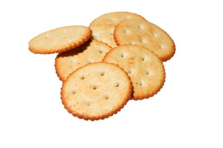Crackers in white background . Stock Photo