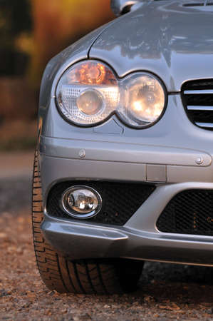 front bumper: Front view of an exclusive car Stock Photo