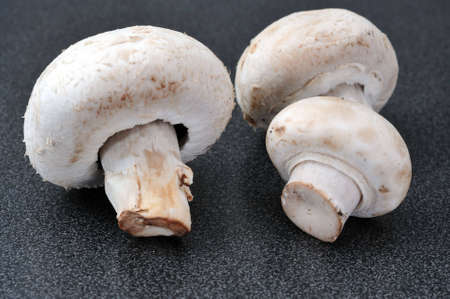 Close up of button mushrooms Stock Photo