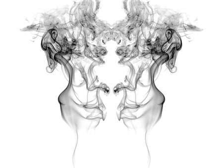 Smoke isolated on white background  Standard-Bild