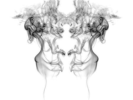 Smoke isolated on white background  Stock Photo
