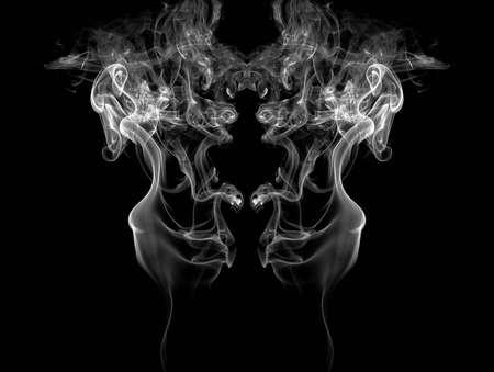 Smoke isolated on black background  Standard-Bild