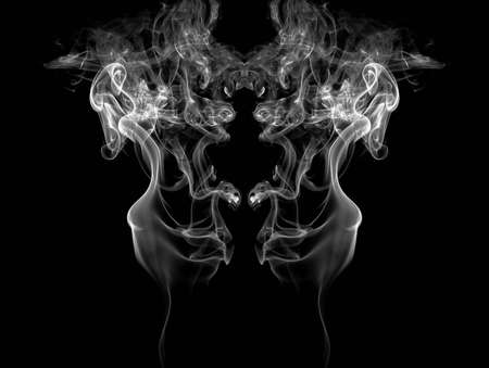 Smoke isolated on black background  Reklamní fotografie