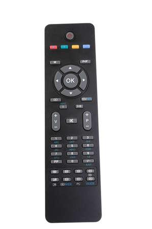 Tv remote control separate white Stock Photo