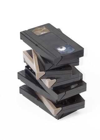 vhs videotape: Vhs cassette on white background