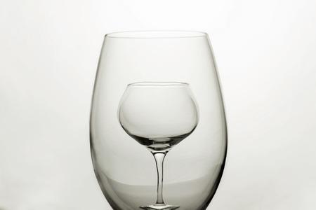 Lampka wina pusta Reklamní fotografie
