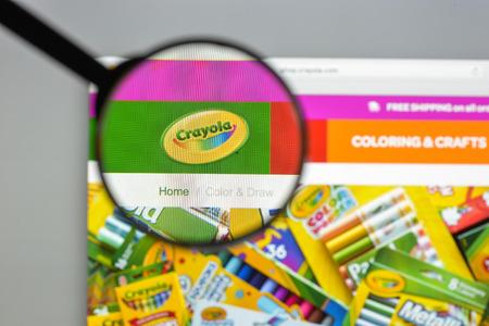 Milan, Italy - August 10, 2017: crayola.com website homepage.  crayola.com logo visible.