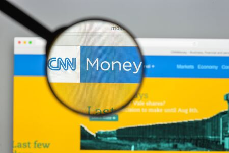 rate of return: Milan, Italy - August 10, 2017: Money.cnn website homepage.  Money.Cnn logo visible.