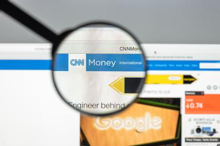 capital gains: Milan, Italy - August 10, 2017: Money.cnn website homepage.  Money.Cnn logo visible.