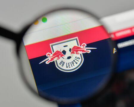 Milan, Italy - November 1, 2017: Rasen Ballsport Lipsia logo on the website homepage.